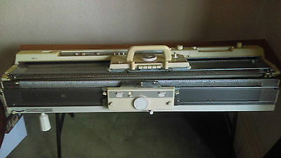 Brother Knitting Machine KH-891 + KR 850 Ribber Attachment + Table + Accessories