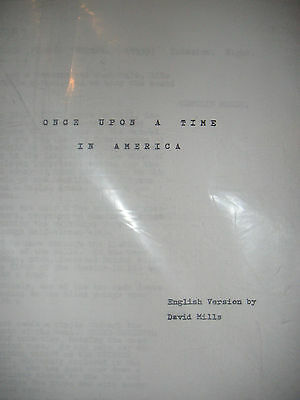 Once Upon a Time in America Screenplay 322 pages! Great Condition! Sergio Leone
