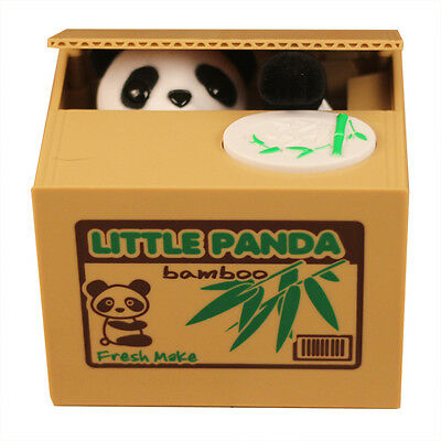 Automated Cute Panda Steal Coin Itazura Piggy Bank Stealing Money Saving Box Hot