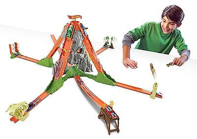 Hot Wheels Track Builder Volcano Escape Car Race Track Set Ages 5+ New Toy Gift