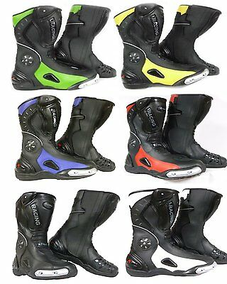 Xtrm 705 Adult Motorbike Motorcycle Sports Armor Racing Boots In All Colors