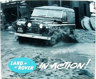 LAND ROVER in Action! 4x4 Car Sales Publicity Brochure 1964 #600F