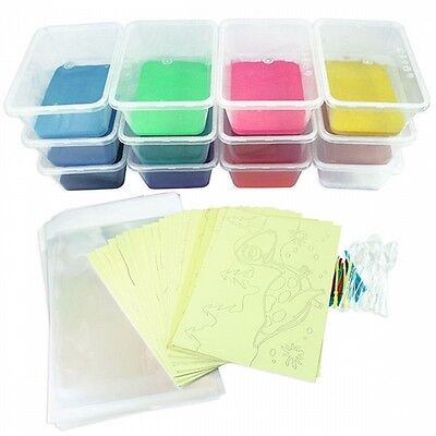 Christmas Sand Art Event Party Kit: 30cards, 10 coloured sand & FreeExpressPost