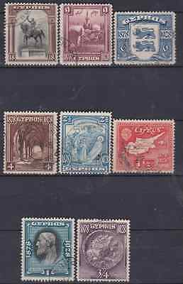Cyprus 1928 Used Set to 18pi Cat £120