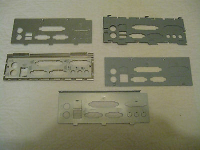 Five ATX Case I/O Shield Motherboard Back Plates as pictured