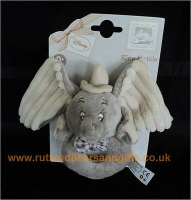 Disney Baby Soft Toy Dumbo the Elephant Ring Rattle Newborn Baby Gift