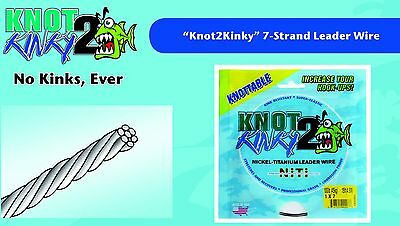 Advanced Strecth Wire Leader Knot2 Kinky Nickel Titanium 7 Strand Leader Wire