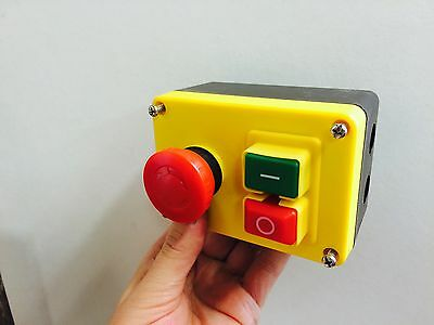 NVR (No Volt Release) Motor Stop/Start Emergency Stop Switch, lathe mill drill