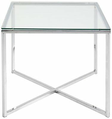 Abc Home Scandinavian Style Chrome Lamp Table Silver Contemporary New UK SELLER