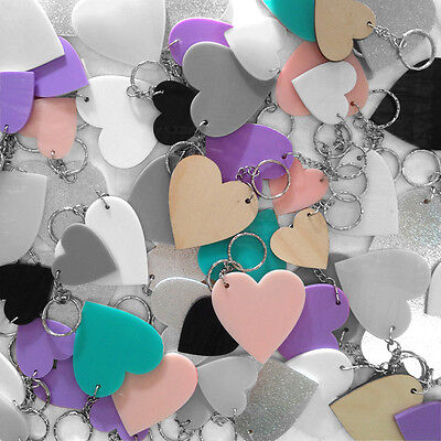 NEW Heart key rings (various colours) Women's by Amindy