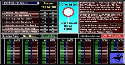 FORECASTER  High Performance Forecast Horse Racing System