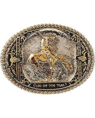 Montana Silversmiths End Of The Trail Belt Buckle Silver One Size