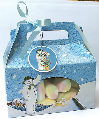 4 x The Snowman Raymond Briggs Cookie Boxes Christmas Gift packaging FREE P&P