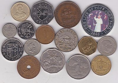 16 Coins From African Countries Dated 1930 To 2012 In A Used Condition
