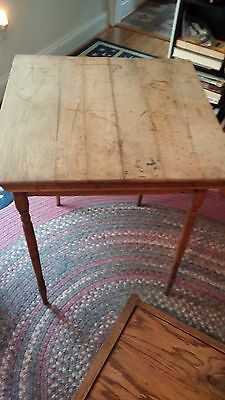 Vintage wooden folding card table, age unknown