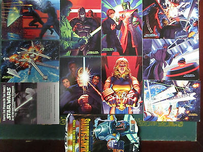 Mixed Job Lot Of Star Wars Cards And Rare Cards 1994 - 2002 Kenner & Topps