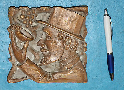 Antique oak carved oak ceiling boss wood carving plaque replica, stock clearance