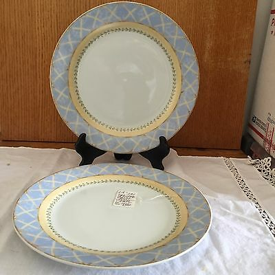 2 Heritage Mint Enchanted Garden Fine China Dinner Plate