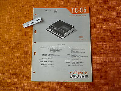 SERVICE MANUAL SONY TC 95 english Anleitung