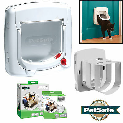 Staywell Petsafe 300 cat flap / pet door 4 way upvc catflap 300EF Tunnels