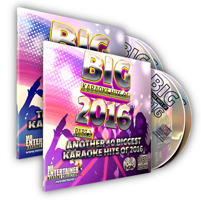 Mr Entertainer BIG Karaoke Hits of 2016. Double CD+G Disc Sets. Parts 1 & 2