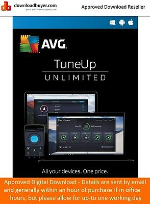 AVG TuneUp 2017 - 1 Year/Unlimited Devices - (Approved Digital Download)