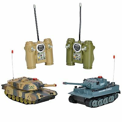 Twin Pack Battle 2 Tank Game Infrared Radio Remote Control RC Infrared Tiger Toy