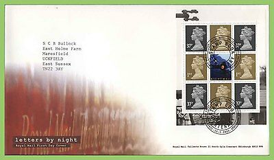 GB 2004 Letters by Night  Booklet Pane on Royal Mail FDC Tallents House Cancel