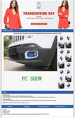 eBay Listing Template Auction HTML Professional PC Mobile Responsive Design