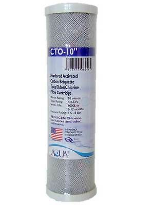 """10"""" Carbon Block Filter Cartridge For (RO) Reverse Osmosis Units / Water Filters"""