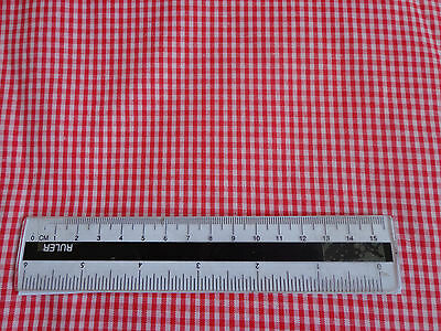 Cotton Material 22  Red & White Check