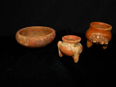 Pre-Columbian Pottery Collection, Set of 3, Costa Rica