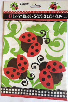 Ladybug Lady Bug 40 Loot Bags Party Supplies Baby Shower Birthday Goody Bags New