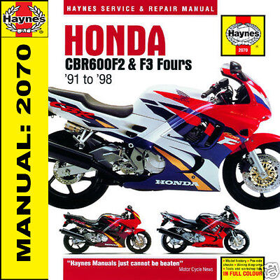 Honda CBR600 CBR600F2 & CBR600F3  1991-1998 Haynes Manual 2070 NEW