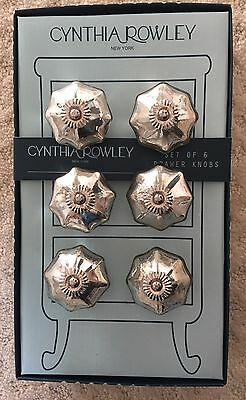 Cynthia Rowley DRAWER PULLS Silver Star SET OF 6  New