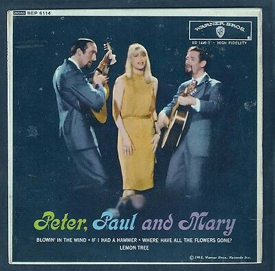 PETER PAUL & MARY.Blowin' in the wind (Bob Dylan).UK EP.FOLK.See other items