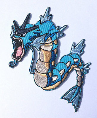GYARADOS Pokemon Go Water Patch Embroidered Sew/Iron-on Quality Applique Badge