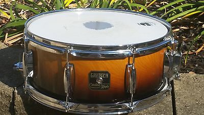 """Gretsch Catalina Maple Snare Drum-Amber-8 Lug-14.5"""" x 6 3/4""""-Fade"""