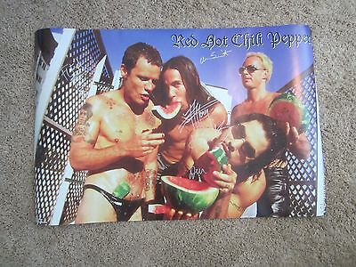 Red Hot Chili Peppers Autographed Poster