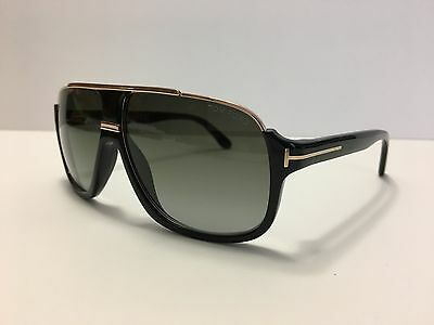New Authentic Tom Ford Elliot TF335 01P Shiny Black/Gold
