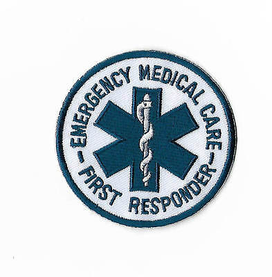 """Emergency Medical Care First Responder Patch 3"""" Embroidered Badge Aid Paramedic"""