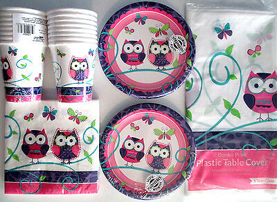 OWL PAL - Birthday Party Supply Set Pack Kit for 16