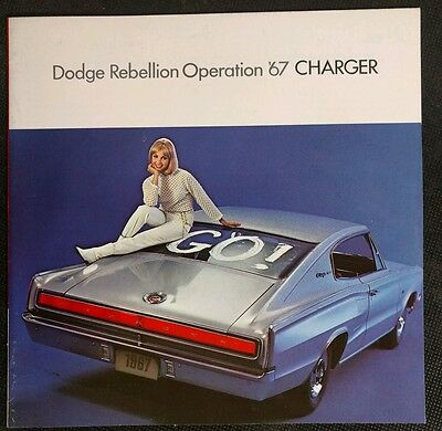 Vintage 1967 Dodge Charger Sales Brochure Rebellion Operation Original Dealer