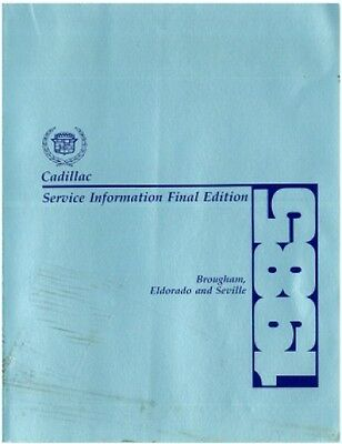 Used 1985 Cadillac Brougham Eldorado and Seville Service Information Manual :...