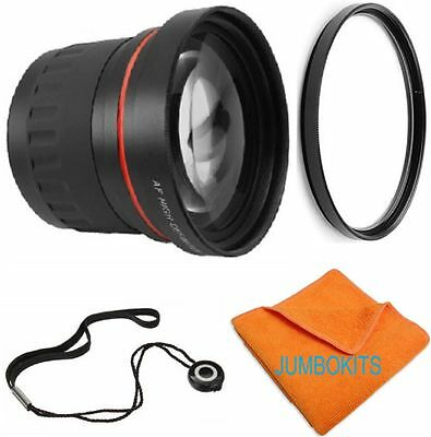 58Mm 2X Telephoto Zoom Lens+ Uv Kit For Canon Eos Rebel Sl1 T5I Xti Fits All Eos