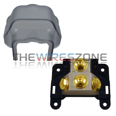 Any Gauge 3-Position Ground/Power Distribution Block for Car Audio Amplifiers