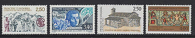 French Andorra - 4 issues - u/m - 1991/2