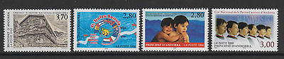 French Andorra - SG F500, 507, 509, 518 - u/m - 1995/6 - 4 stamps