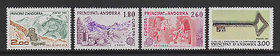 French Andorra - 4 issues - u/m - 1983/7
