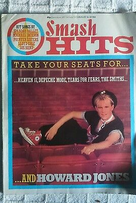 Smash Hits 1984 Magazine Howard Jones Queen The Smiths Depeche Mode Tears For T.